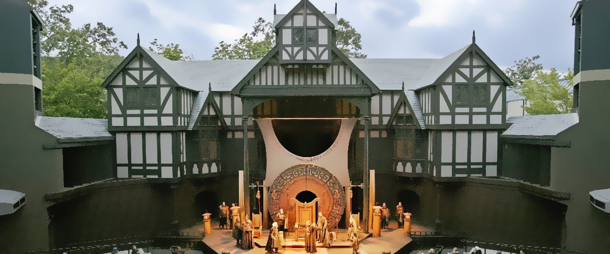The Oregon Shakespeare Festival in Ashland Oregon has a classic Tutor Style outdoor amphitheater for feature performances