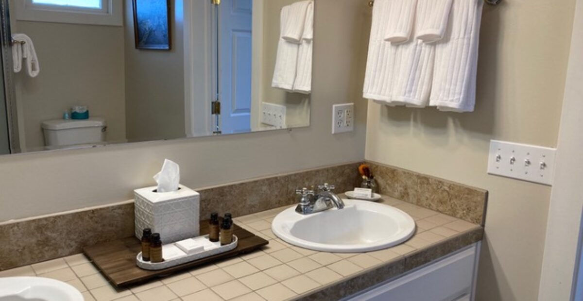 Room 15 – The Library Suite – Bathroom with double sinks